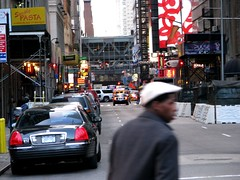 A view down 41st Street, Manhattan (Dan_DC) Tags: nyc newyork newyorkcity manhattan midtown portauthority streetlevel urbanscene people street scenesfromthegrittycity grit rf royaltyfree license flatfee stock imagebank candid humaninterest urbanbest male man men uomo homme