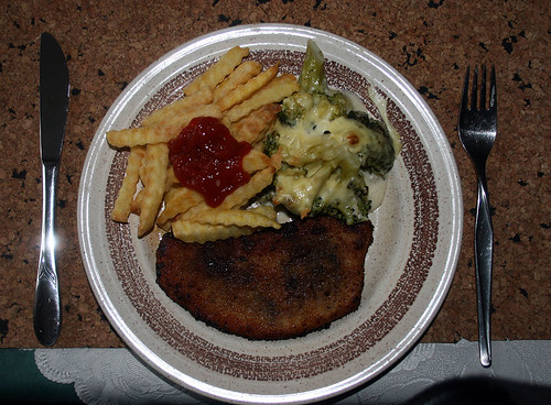 Schnitzel mit Käsebrokkoli