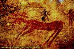 Wall Paintings of Anatolia (voyageAnatolia.blogspot.com) Tags: archaeology monochrome wall turkey painting trkiye turkiye paintings monochromatic turquie trkei cave wabisabi turquia neolithic turqua tyrkiet turchia   catalhoyuk  turska  atalhyk fotogezi   voyageanatolia