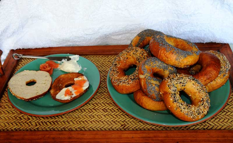 Latest Batch of Lye bagels