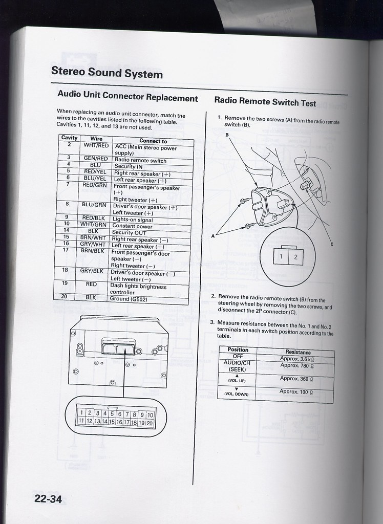 De A C B on 98 Honda Accord Radio Wiring Diagram