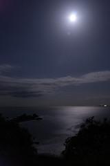 moon shine, mitsuishi (expertise_taka) Tags: skyscape landscape nightscape kanagawa shizuoka mtfuji moonshine fujinomiya mitsuishi starrysky diamondfuji manadurucave asagiriplateau susonocity 090315