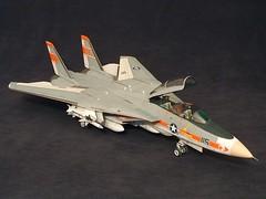 1/32 F-14A Tomcat (chrispricecreative) Tags: airplane fighter f14 aircraft models jet plastic jetfighter 132 tomcat wolfpack grumman fighterplane militaryaircraft plasticmodel revell vf1 f14a 132f14atomat modelbuild platicmodels