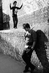 The Dream Life of Angels (Ian Brumpton) Tags: street uk portrait england people blackandwhite bw london blancoynegro blackwhite strada noiretblanc britain pavement camden candid camdenmarket streetshots streetphotography streetlife sidewalk angels londres angleterre brickwork streetphotographs streetphotographer blackwhitephotos scattidistrada