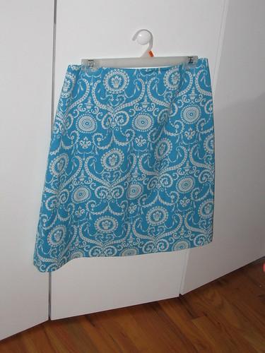blue a-line skirt