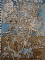 Inheriting the Craft Work (Alberto J. Almarza) Tags: visions dreams secrets gatekeeper craftwork liminal blueandbrown shapeshifting paralleldimensions albertojalmarza ritualtable councilofintelligences bluechairexperiments