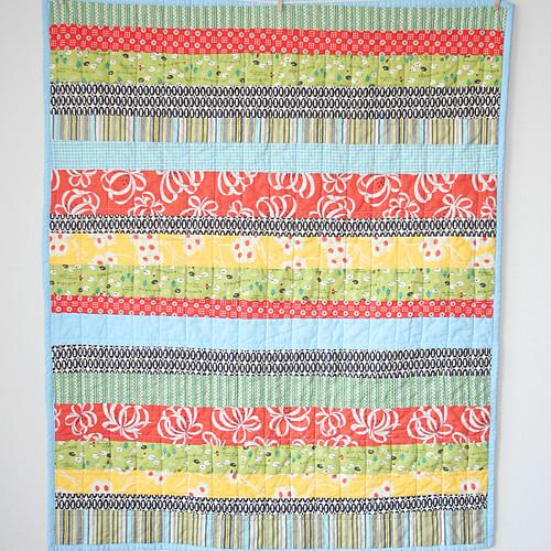 Little sheep strip quilt