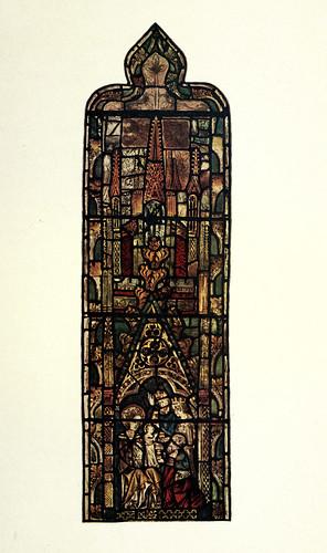 012- La Natividad- parte superior del vitral oriental del pasillo norte- York siglo XIV