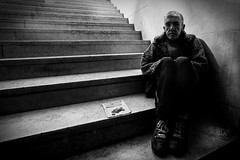 Hoping a better place is all I need. (* Ahmad Kavousian *) Tags: portugal walk lisbon explore panhandler begger explored explore31 stairstolight beeninflickrexplorepage