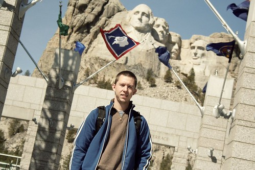 the hubby at Mt. Rushmore.