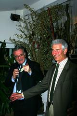 Il Professor Caffo e il Professor Graham durante la cena di consegna dei diplomi (Fondazione Child) Tags: 2005 di bocca magra