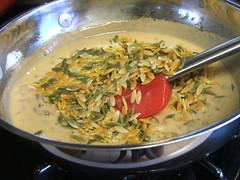 Creamy Mushroom and Orzo Pasta