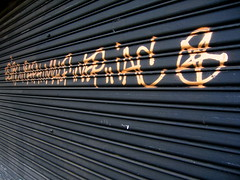 (Gabri Le Cabri) Tags: black paris metal shop gold graffiti star closed shutter 75010 paris10 esiro