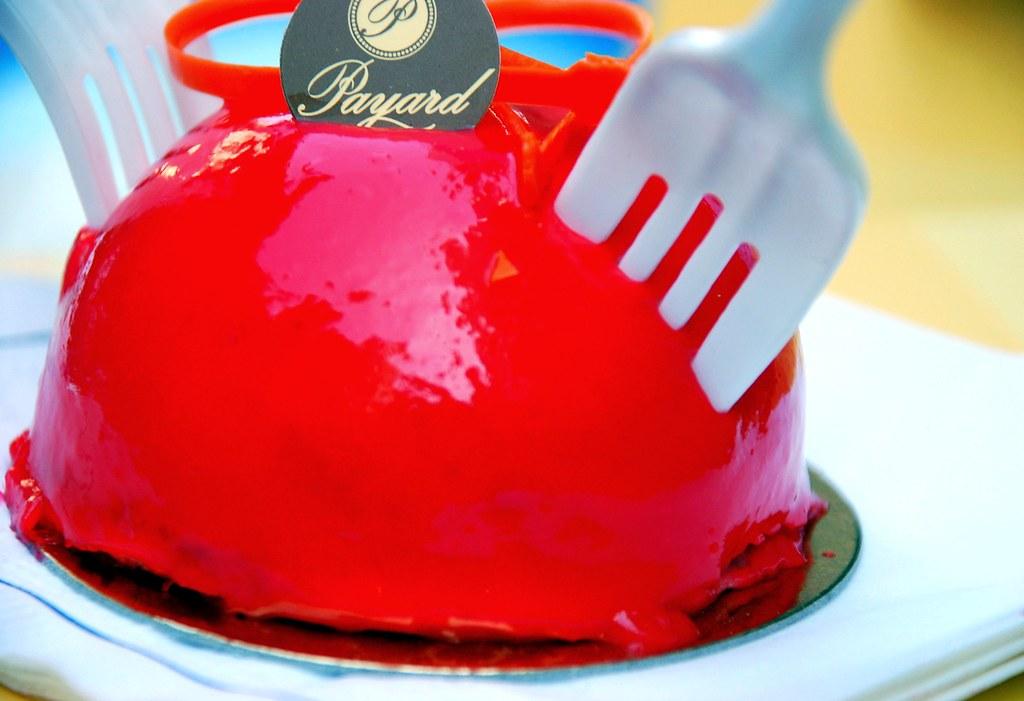 raspberry mousse cake...