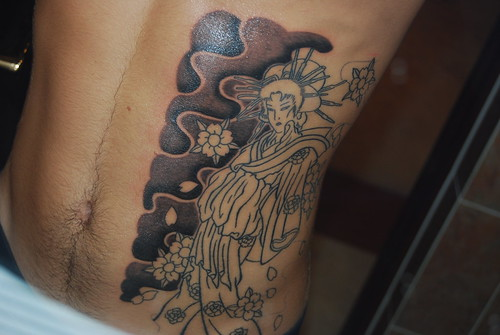 Newest photo →; Geisha rib tattoo - session 2 · DSC_0630_1_2_3_4_tonemapped