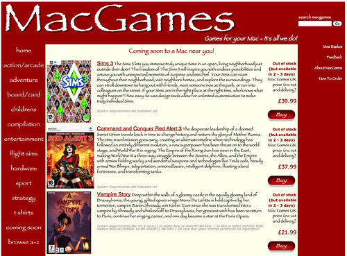 MacGames UK - for your Apple Macintosh