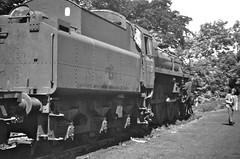 Carnforth Lancashire 9th June 1968 (loose_grip_99) Tags: railroad england abandoned blackwhite railway steam lancashire 1968 tender withdrawn carnforth lms britishrailways br2 lnwr 75020 uksteam lampbracket westernregion standard4 gassteam endofsteam