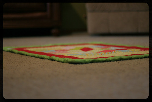 W's quilt - floor