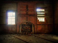Ambient Abandonment (evanleavitt) Tags: county wood light shadow house cold texture abandoned home rural ga georgia warm moody sad darkness decay empty atmosphere olympus hearth weathered vs alive laurens hdr e510 photomatix