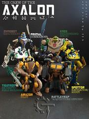 Animated Axalon Crew (Gizmo_Tracer) Tags: action crew transformers figure beast optimus animated wars custom primal rattrap kitbash dinobot repaint maximal axalon tigatron airazor rhinox cheetor