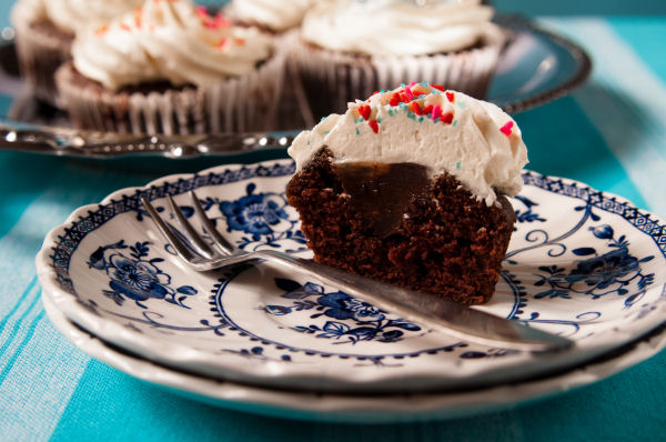Guinness cupcakes with chocolate whiskey ganache and Bailey's buttercream
