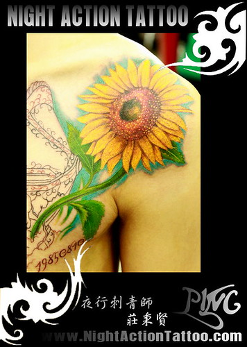 sunflower tattoo. sunflower tattoo 刺青