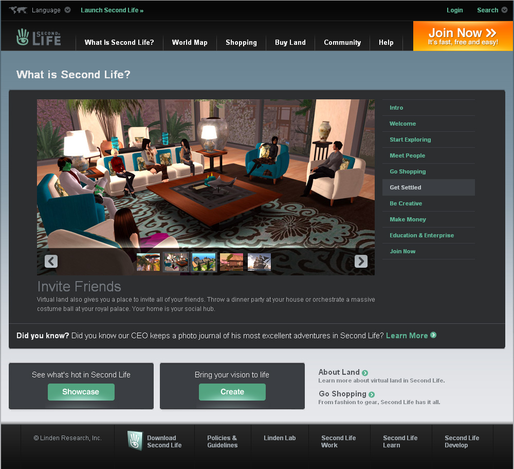 Second Life Web site