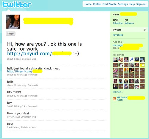 Spam Twitter Followers