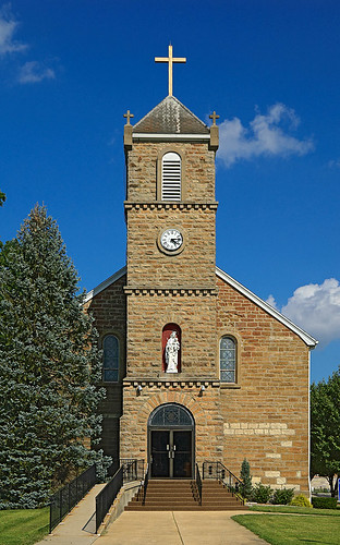 Our Lady Help of Christians Roman Catholic Church, in Weingarten, Missouri, USA - exterior front