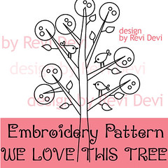 we love this tree (revi1001) Tags: tree bird modern kawaii chic etsy whimsical embroiderypattern contemporer craftpattern gogree revi1001