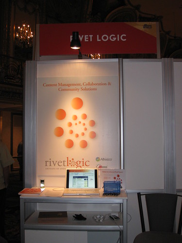 Rivet Logic booth at the partner pavilion