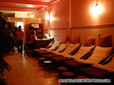 Inside the massage house