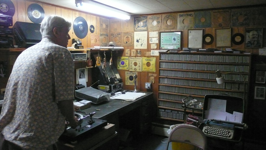Part of Joes record station
