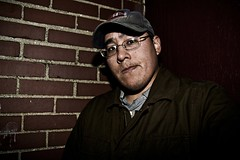 Me by wall 2 (Zach Bonnell) Tags: portrait night newfoundland canonxt gander canon430ex tamron1750f28