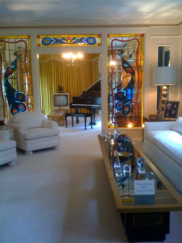 The living room at Graceland