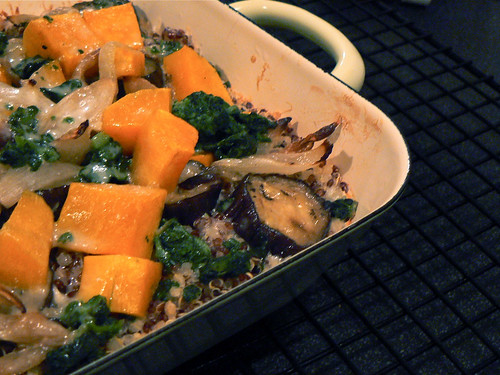 Roasted vegetable gratin