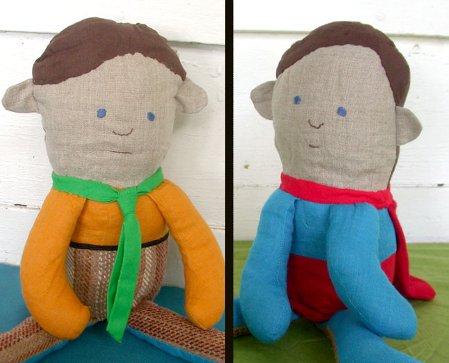 Mild Mannered Super Hero Flip Doll