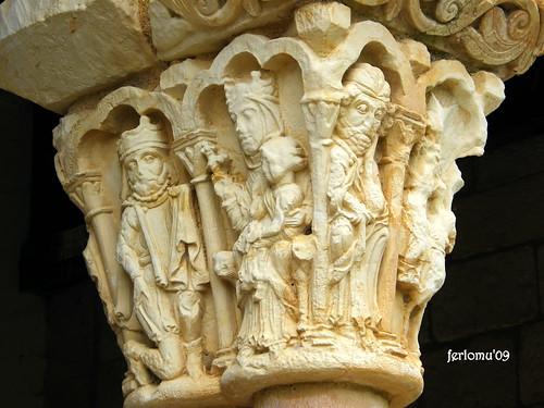 Duratón (Segovia) románico capitel-1
