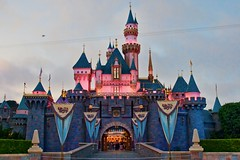 Disneyland Aug 2009 - Castle at Dusk