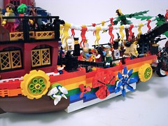Zombie Killin' Gay Pride Float (Lino M) Tags: pink flowers tractor rainbow lego apocalypse lesbians zombies build martins challenge lino homosexuals lugnuts zombiekillingaypridefloat zombieapocalypsekillfest09