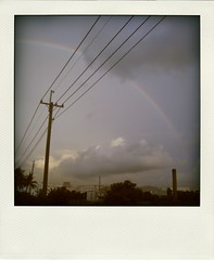 after the rain (naphele) Tags: sky digital canon polaroid dc rainbow tainan  ixy 910is