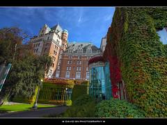 The Fairmont Empress Resort Hotel in Victoria, B.C. - HDR (David Gn Photography) Tags: autumn canada britishcolumbia fallcolors staircase atrium hdr victoriabc theempress photomatix sigma1020mmf35exdchsm canoneosrebelt1i davidgnphotography thefairmontempressresorthotel