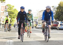 cycling to work in the SF Bay Area (by: Stanford University)