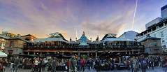 Covent Garden (almonkey) Tags: sunset people panorama london clouds nikon market pano handheld coventgarden crowds dri hdr touristattraction stalls touristcentral testingtesting123 15xp omot d700 inearlywentblindstitchingthis andtheresstilldistortion