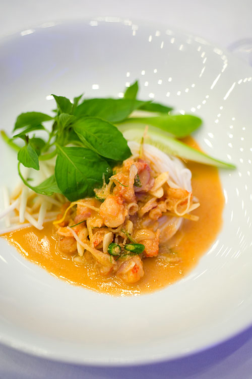 David Thompson's dish, Prawns with shredded herbs/Nahm yaa sai gung sap, World Gourmet Festival, Four Seasons, Bangkok