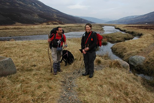 Stephan and Nathalie in Upper Glen Callater