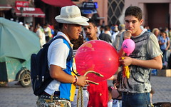 Authenticity (damiancorrigan) Tags: africa tourism catchycolors balloons observation martin northafrica balloon streetphotography photojournalism tourists morocco maroc marrakech maghreb marrakesh marruecos parr streetvendors martinparr djemaaelfna