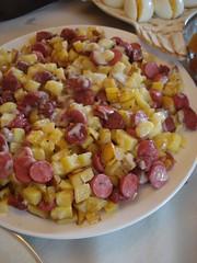 Patates ve sucuklu kavurma