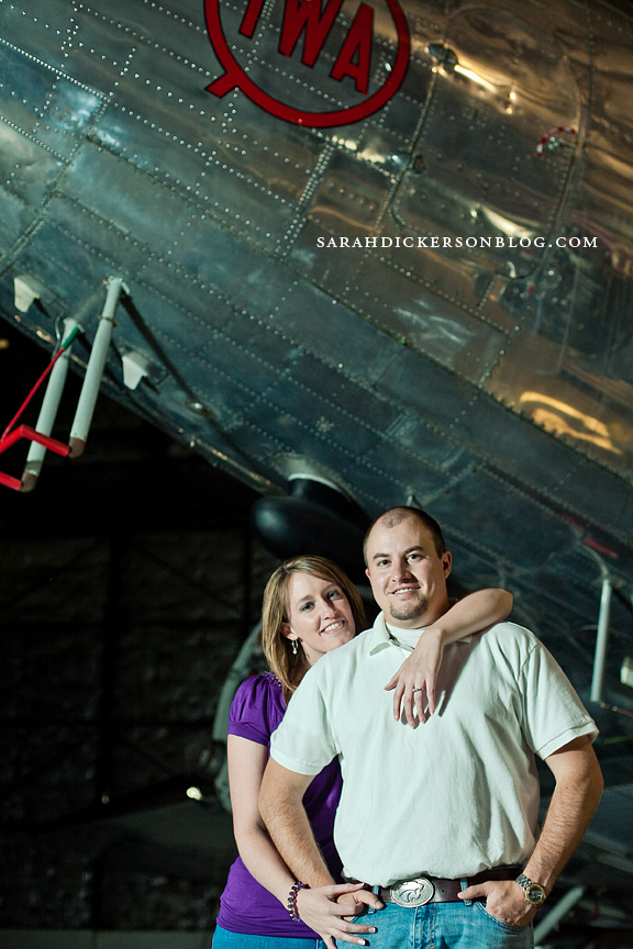 Airline History Museum Kansas City engagement photography
