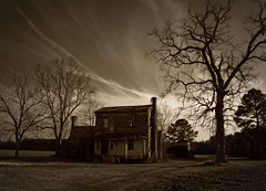 It longs for the old south (History Rambler) Tags: old chimney sky house tree abandoned home rural vines decay south northcarolina historic haunted southern plantation vacant antebellum decayed tinroof martincounty greekrevival oncewashome williamhyman
